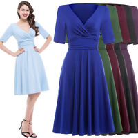 Vintage Retro 50s 60s Style Full Circle Swing COCKTAIL Evening Party Pinup Dress