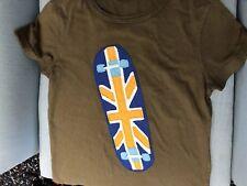 Garçons Mini Boden Brown Skate Design T-Chemise Âge 9 To 10