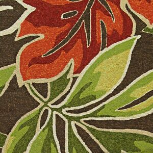 """Couristan Covington Areca Palms Brown & Forest Green In/Out Rug, 2'6""""x8'6"""" Rn"""