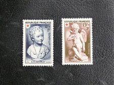 TIMBRES DE FRANCE : 1950 N° YEVRT 876/877* TRACE DE CHARNIERE GOMME ORIGINE TBE