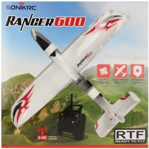 Sonik RC Ranger 600 RTF Plane With Flight Stabilization, Inc Radio Handset + Bat