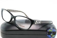 Coach RX Eyeglasses HC 6061 5261 (Emma) Gloss Black/Sand Logo Frame [52-15-135]