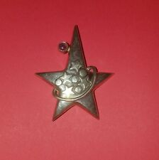 VINTAGE STERLING SILVER AND AMETHYST STAR PIN BROOCH