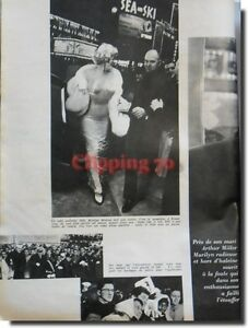 Coupure de presse Clipping 1959 - Marylin revient -' Marylin Monroe'