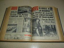 PARIS JOUR 1961 Mars & Avril (61 revues) 42/30/6cm : ALGERIE-GAGARINE-KENNEDY...
