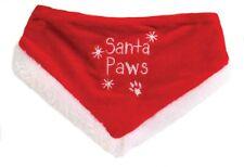 SANTA PAWS PET BANDANA DOG CHRISTMAS FANCY DRESS XMAS PUPPY OUTFIT NECKERCHIEF