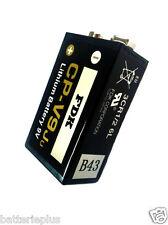 4 x FDK CP-9 Lithium Batterie für Rauchmelder 9V E-Block 6LR61 U9VL MN1604