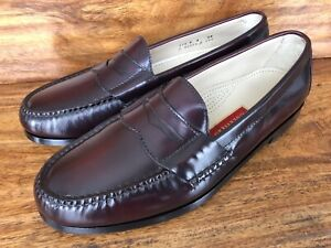 Men's Cole Haan Pinch Penny Dress Loafers Burgundy Leather Size 11.5 D