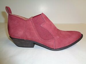 Lucky Brand Size 7.5 M JOELLE Ruby Wine Leather Ankle Boots New Womens Shoes