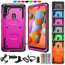 For Samsung Galaxy A11 Phone Case Shockproof Rugged Rubber Armor Hybrid Cover