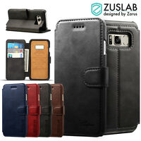 Galaxy S8 S8 Plus Cover for ZUSLAB Delux Flip Leather Wallet Case for Samsung