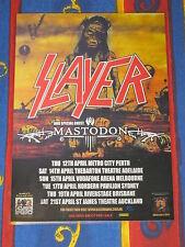 SLAYER - MASTODON - 2007 Australian Tour Promo Poster