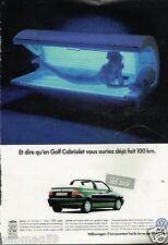 Publicité advertising 1996 VW Volkswagen Golf Cabriolet