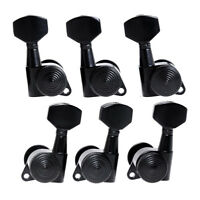 Guitar Locking Tuners Tuning Pegs Machine Heads For Electric Acoustic 3L3R Black