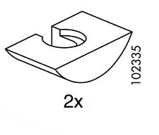 (2) x IKEA U-WEDGE  FITS IKEA HEMNES BED FRAME Replacement Part # 102335 New