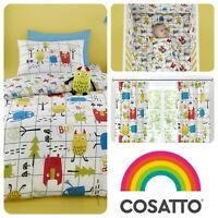Cosatto MONSTER MOB Baby Toddler Bedroom Set - Duvet Cover Set, Curtains & More