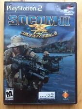 SOCOM II PlayStation 2 with Disc Manual and Case *TESTED WORKING*