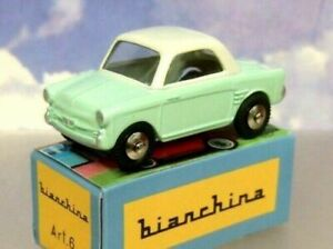HACHETTE DIECAST MERCURY TOYS COLLECTION AUTOBIANCHI BIANCHINA MICRO CAR GREEN