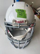 Riddell Revo Youth Medium Football Helmet (White with Gray Face Mask)