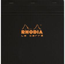 [Ref:210209C] RHODIA Bloc BLACK «Le Carré» 21x21cm 80F agrafées 80g