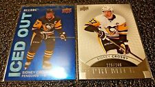 UPPER DECK 2 CARD LOT PREMIER # /249 ALLURE INSERT SIDNEY CROSBY PENGUINS