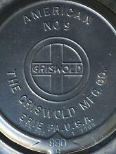 Griswold Waffle Iron NO9 Very Nice All  Numbers In Sequence