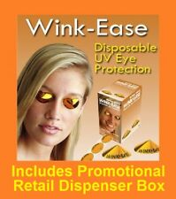 Wink-Ease Disposable SunBed Tanning Eye Protection Goggles 250 Pairs + Dispencer