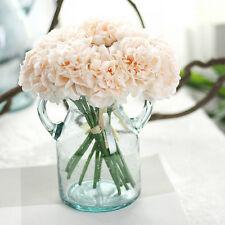Artificial Silk Fake Flowers Peony Floral Wedding Bouquet Bridal Hydrangea
