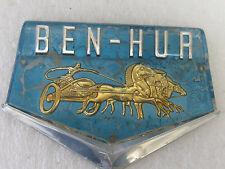 Vintage 1950'S  BEN-HUR Freezer  emblem plastic