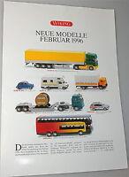 Nouveau, Neuf Modèles Februar 1996 Wiking Nouvelle Fiche Produit Å