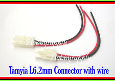 Tamiya Battery L6.2mm 2-Pin Male and Female Connector wire 16AWG 150mm x 2 PAIRS