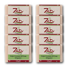 VIRGIN COCONUT OIL SOAP BY ZEN Pk 10  Cold process first extracts of VCO