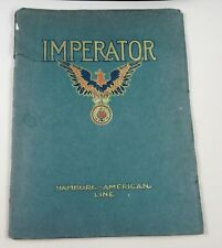 Hamburg American Line - Imperator - Early Steamship Booklet
