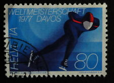timbre poste Suisse n° 1012. patinage sport