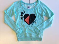 "VOLCOM Junior's Crewneck Sweatshirt ""Love Fleece"" - AQUA - Small - NWT - Reg $65"