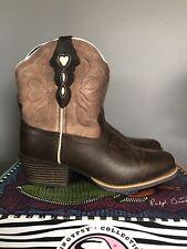 "Justin Gypsy 7"" Copper Chocolate Buffalo Square Toe Cowboy Boots L9511 Womens 6"