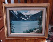 "Signed ART BY TRUDY LUND 13 X 16"" ""BLUE MOUNTAINS OF ALASKA"" ORIGINAL 1991 frame"