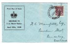 Australia SG#166-FIRST DAY-BUNDABERG QUEENSLAND 20/AP/38-ILLUSTRATED