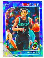 Malik Monk 2019-20 NBA Hoops Premium Stock Blue Cracked Ice Prizm Card #264 SP??
