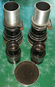 """2 ea Bausch & Lomb Projector Lenses Series II Cinephor EF 5.5""""and CinemaScope 35"""