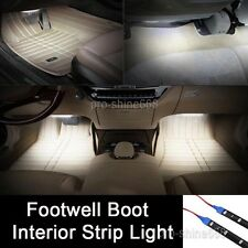 "2x 12"" White LED Interior Exterior Strip Footwell Dash Ambient Light Fit Dodge"