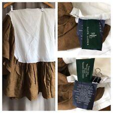 Vintage Ralph Lauren Gathered Bedskirt Green Label TWIN 100% Linen Dust Ruffle