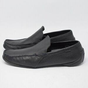 Lacoste Men's Size 13 Black Leather Driving Shoes