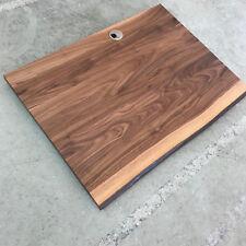 Tischplatte Platte Nussbaum Massiv Holz mit 2x Baumkanten Schreibtischplatte NEU