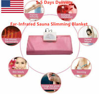 2 Zone Far Infrared Fir Sauna Blanket Slimming Portable Weight Loss Detox USA