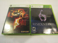 Resident Evil 5 & Resident Evil 6  for Xbox 360 in Very Good Condition Free Ship