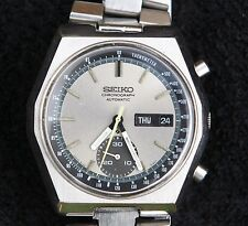 Vintage Seiko Chronograph Automatic 6139-7080 Mens Watch - Working