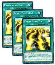 Set 3X PRANA YANG ZING DUEA-IT062 Comune in Italiano YUGIOH