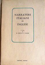 NARRATORI ITALIANI IN INGLESE A CURA DI ELIO CHINOL, THOMAS FRANK LIGUORI 1961