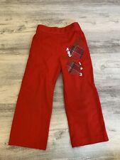 (L54) Rosebud Duds Red Apple Applique Abc Pants 3T Red Vtg
